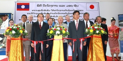 Japan Handed Over Training Center's Buildings to UXO Lao to support UXO Lao Operation